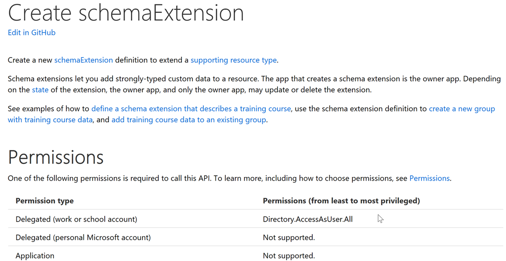 How to Create a New Schema Extension Using the Microsoft